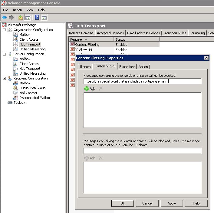 How to unblock email sent by Exchange 2007 SP1   COMC Blog
