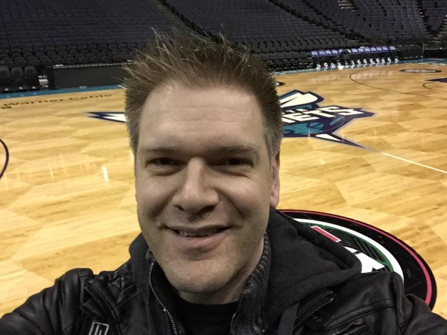 Tim at an NBA game