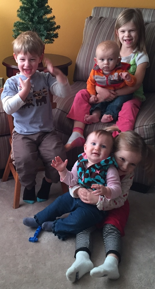 All 5 of Tim's nieces and  nephews