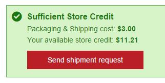 Send shipment request