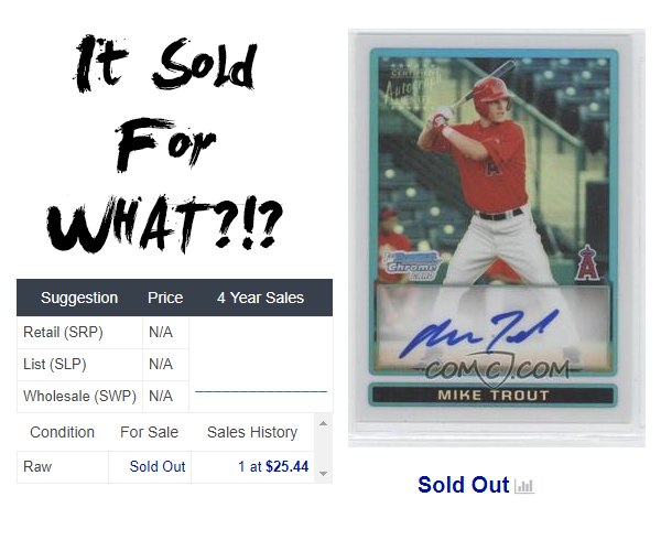 It Sold For What The Mike Trout Edition Comc Blog