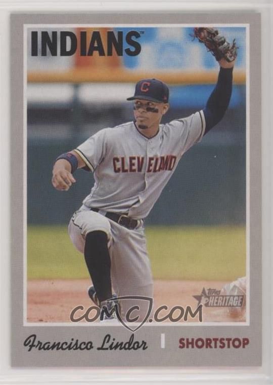 Short Printfrancisco Lindor Action Variation Baseball Card Comc